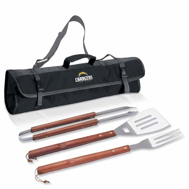 San Diego Chargers 3-pc BBQ Tote (Black)