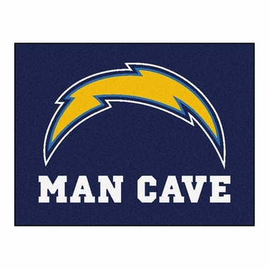 San Diego Chargers 34 x 45 Man Cave Rug