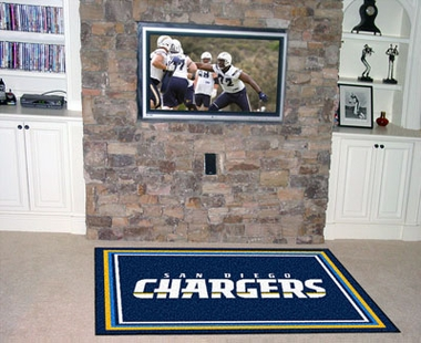 San Diego Chargers 4 Foot x 6 Foot Rug