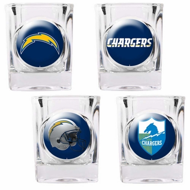 San Diego Chargers 4 Piece Assorted Shot Glass Set