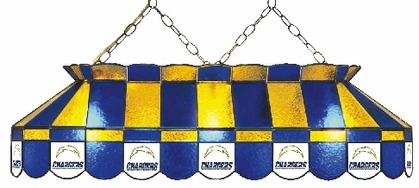 San Diego Chargers 40 Inch Rectangular Stained Glass Billiard Light