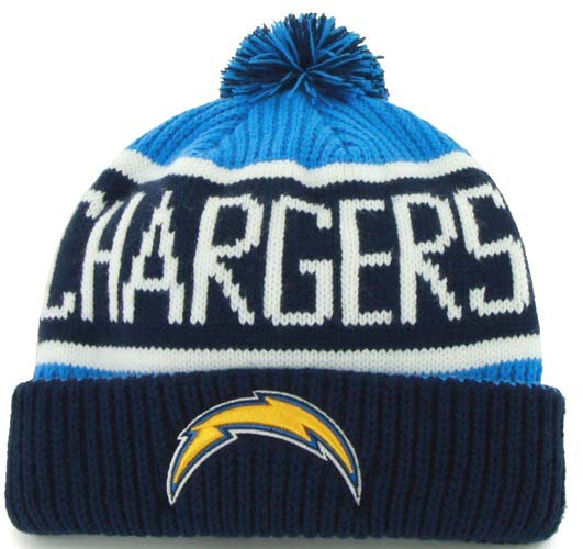 San Diego Chargers Beanie: San Diego Chargers 47 Brand NFL Calgary Cuffed Knit Hat