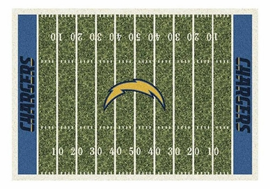 "San Diego Chargers 5'4"" x 7'8"" Premium Field Rug"