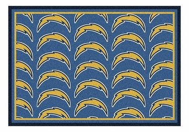 "San Diego Chargers 5'4"" x 7'8"" Premium Pattern Rug"