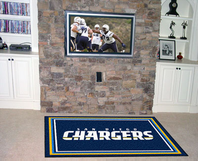 San Diego Chargers 5 Foot x 8 Foot Rug