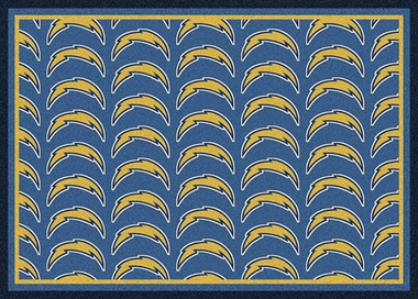 "San Diego Chargers 7'8 x 10'9"" Premium Pattern Rug"