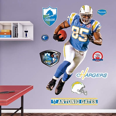 San Diego Chargers Antonio Gates Fathead Wall Graphic
