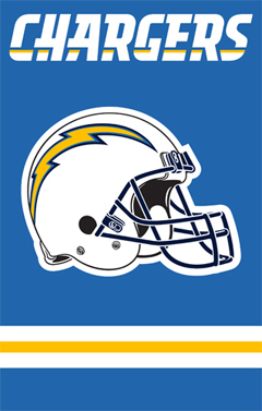 San Diego Chargers Applique Banner Flag