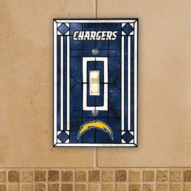 San Diego Chargers Art Glass Lightswitch Cover