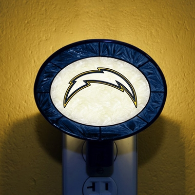 San Diego Chargers Art Glass Night Light