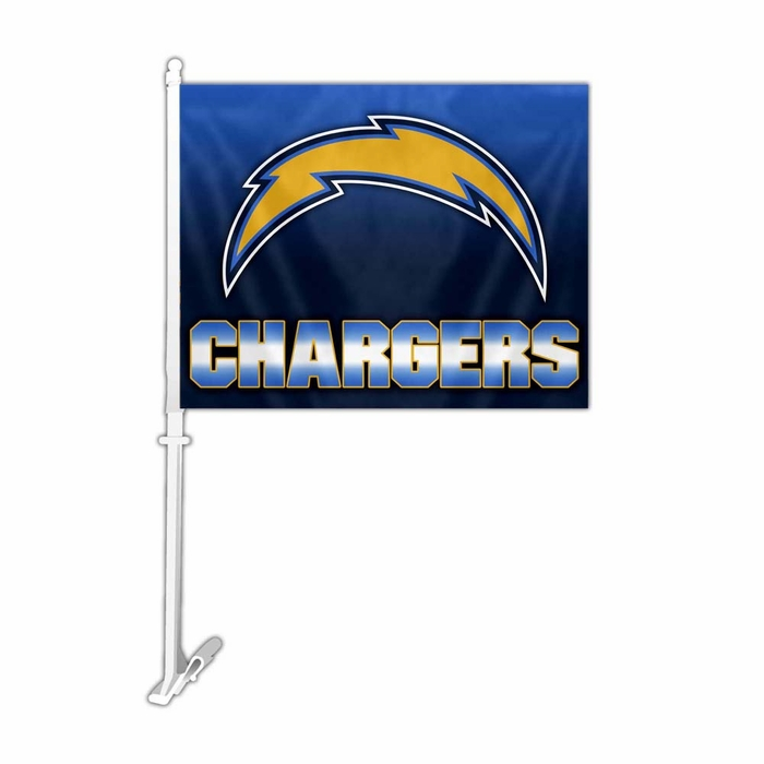 San Diego Chargers Canopy: San Diego Chargers Car Flag W/ Wall Brackett (P