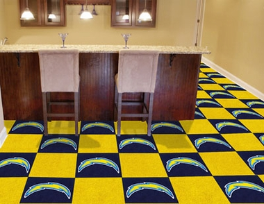 San Diego Chargers Carpet Tiles