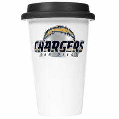 San Diego Chargers Ceramic Travel Cup (Black Lid)
