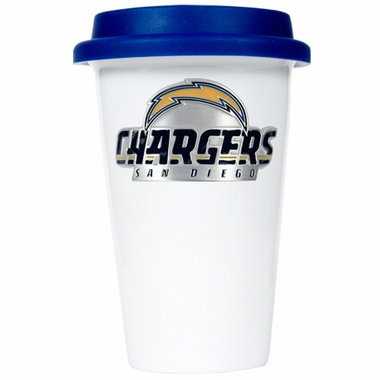 San Diego Chargers Ceramic Travel Cup (Team Color Lid)