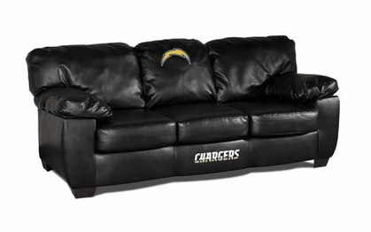 San Diego Chargers Leather Classic Sofa