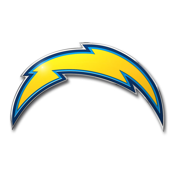 San Diego Chargers Canopy: San Diego Chargers Die Cut Color Auto Emblem