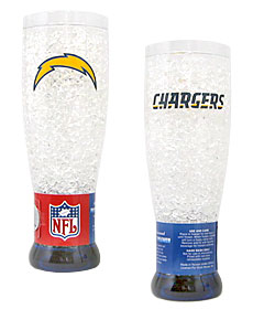 San Diego Chargers Crystal Pilsner Glass