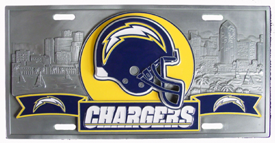San Diego Chargers Deluxe Collector's License Plate