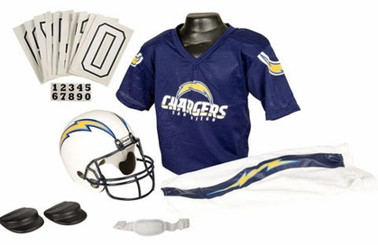San Diego Chargers Deluxe Youth Uniform Set - Medium