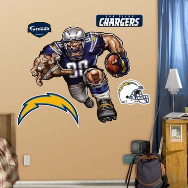 San Diego Chargers Die Cut RB Liquid Blue Fathead Wall Graphic