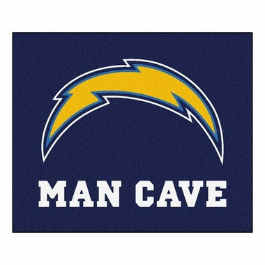 San Diego Chargers Economy 5 Foot x 6 Foot Man Cave Mat