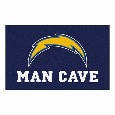 San Diego Chargers Economy 5 Foot x 8 Foot Man Cave Mat