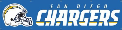 San Diego Chargers Eight Foot Banner