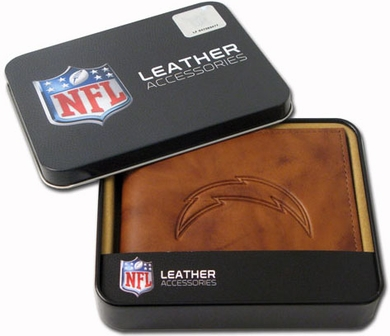 San Diego Chargers Embossed Leather Bifold Wallet