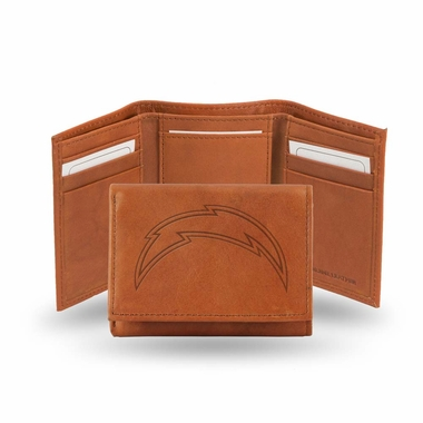 San Diego Chargers Embossed Leather Trifold Wallet