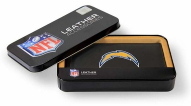 San Diego Chargers Embroidered Leather Checkbook Cover