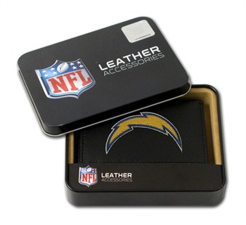 San Diego Chargers Embroidered Leather Tri-Fold Wallet
