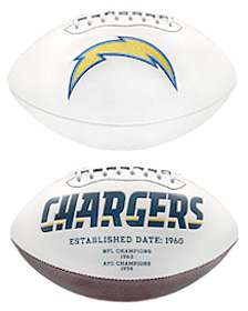 San Diego Chargers Embroidered Signature Series Football