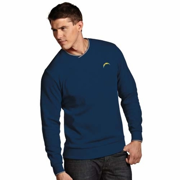 San Diego Chargers Mens Executive Crew Sweater (Team Color: Navy)