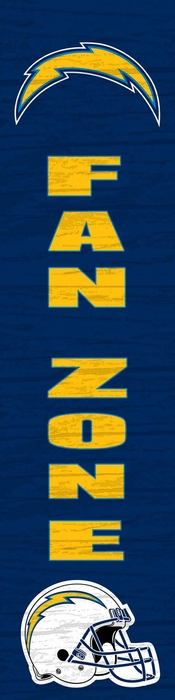 San Diego Chargers Fan Zone Vertical Sign
