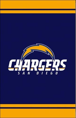 San Diego Chargers Fiber Optic Garden Flag
