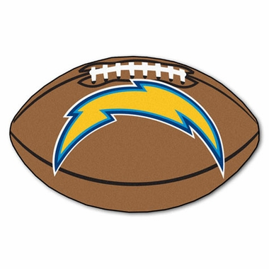 San Diego Chargers Football Shaped Rug