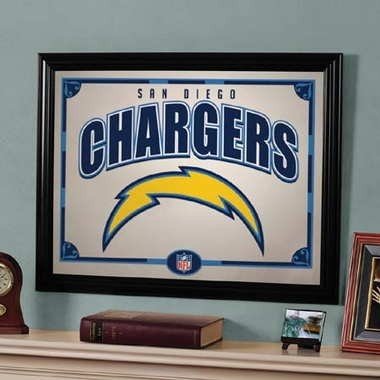 San Diego Chargers Framed Mirror