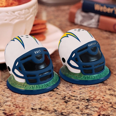 San Diego Chargers Helmet Ceramic Salt and Pepper Shakers