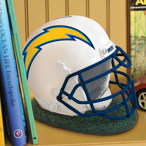San Diego Chargers Canopy: San Diego Chargers Helmet Shaped Bank
