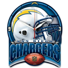San Diego Chargers High Definition Wall Clock
