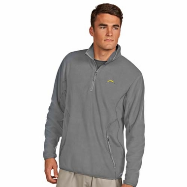 San Diego Chargers Mens Ice Polar Fleece Pullover (Color: Gray)