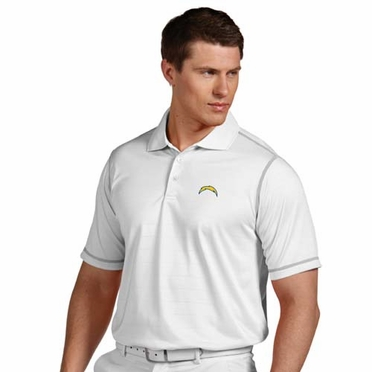 San Diego Chargers Mens Icon Polo (Color: White)