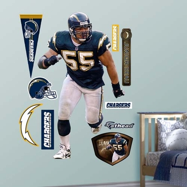 San Diego Chargers Junior Seau Fathead Wall Graphic
