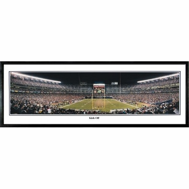San Diego Chargers Kick Off Framed Panoramic Print