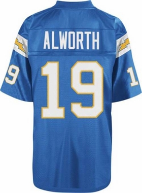San Diego Chargers Lance Alworth Mitchell & Ness Throwback Premier Blue Jersey