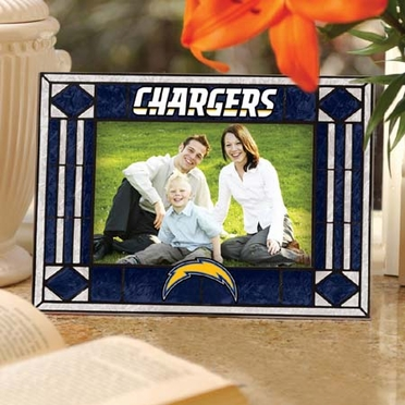 San Diego Chargers Landscape Art Glass Picture Frame