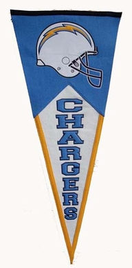 San Diego Chargers Large Wool Pennant