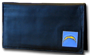 San Diego Chargers Leather Checkbook Cover (F)