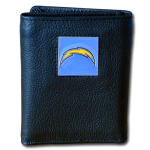 San Diego Chargers Leather Trifold Wallet (F)