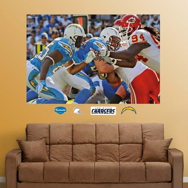 San Diego Chargers Line of Scrimmage Mural Fathead Wall Graphic